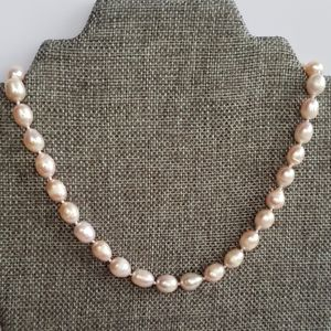 """REAL 10-11mm 17.5"""" Pink Pearl Strand"""